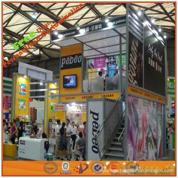 entwerfen Sie und machen Sie kundenspezifischen Ausstellungsstand mit zwei Fußböden für Messe, bewegliches Ausstellungssystem von der Shanghai-Fabrik