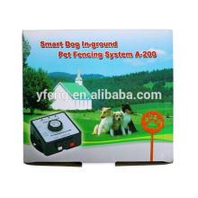 A200 Cão Inteligente Em-chão Pet Esgrima Sistema- Receptor pode ser cobrado pet Eletrônico cão cerca Pet Dog Cerca Sistema a200