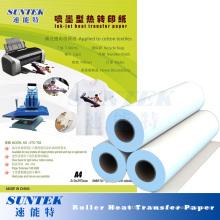 Papier de transfert de chaleur sec rapide avec la machine de transfert de sublimation de rouleau