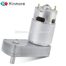 Motor de engranaje de CC cuadrado de 12 V de alto par para la máquina de almohada de aire (KM-42F540)