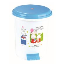 Cute Cartoon Pinted Design Plastic Pedal Dustbin (YW0088)