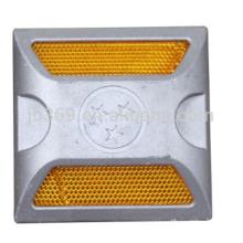 Perno de carretera de aluminio 100x100x25mm para la seguridad del tráfico