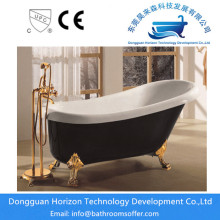 Acrylic black bathtub freestanding black tub