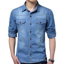 Hommes Coton Mode Jeans Casual Veste & Robe Jeans Chemises