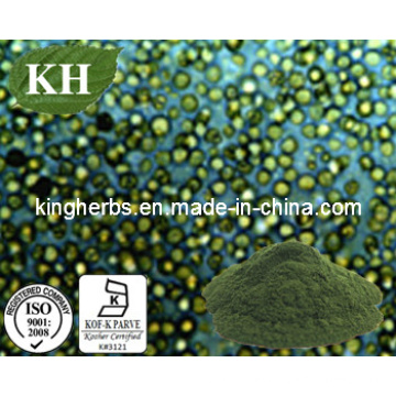 Carotenoides naturales 2%, vitamina B2 5 mg, clorofila 3% extracto de Chlorella