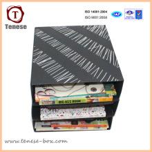 Papel de arte simples Carton Packaging Papelaria Rack Display