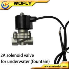 Shut off Stainless Steel 1/2 Válvula solenóide submersa normalmente fechada 24VDC