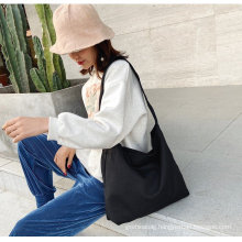 Custom natural recycled blank cotton shopping bag single shoulder canvas bags