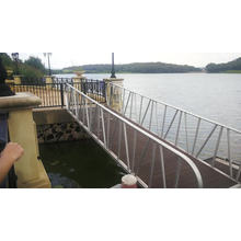 Aluminium structure marine floating Dock ang gangway for sale in Guangzhou