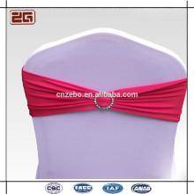 Trade Assurance Guangdong Fabricação Spandex Lycra cadeira Sash com fivela de plástico