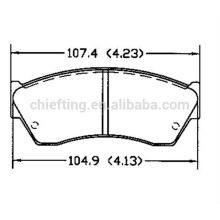 D451 55200-61880 Presse Chevrolet pour plaquettes de frein
