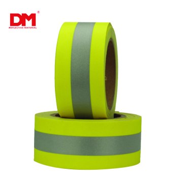 2 In x 32 Ft Reflective Fire Retardant Sew Tape High Visibility Firefighter yellow Fluorescent