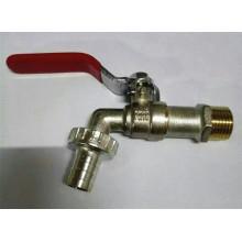 Завод продаж Никелированная Латунь шаровой Кран/кран с железной ручкой (уй-2006-1)