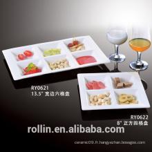 LFGB, FDA, certification SGS et plats et assiettes Vaisselle Type photos de plaques de fruits
