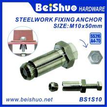 M10 * Boulon d'expansion en acier inoxydable hexagonal 50 mm / Fixing Anchor
