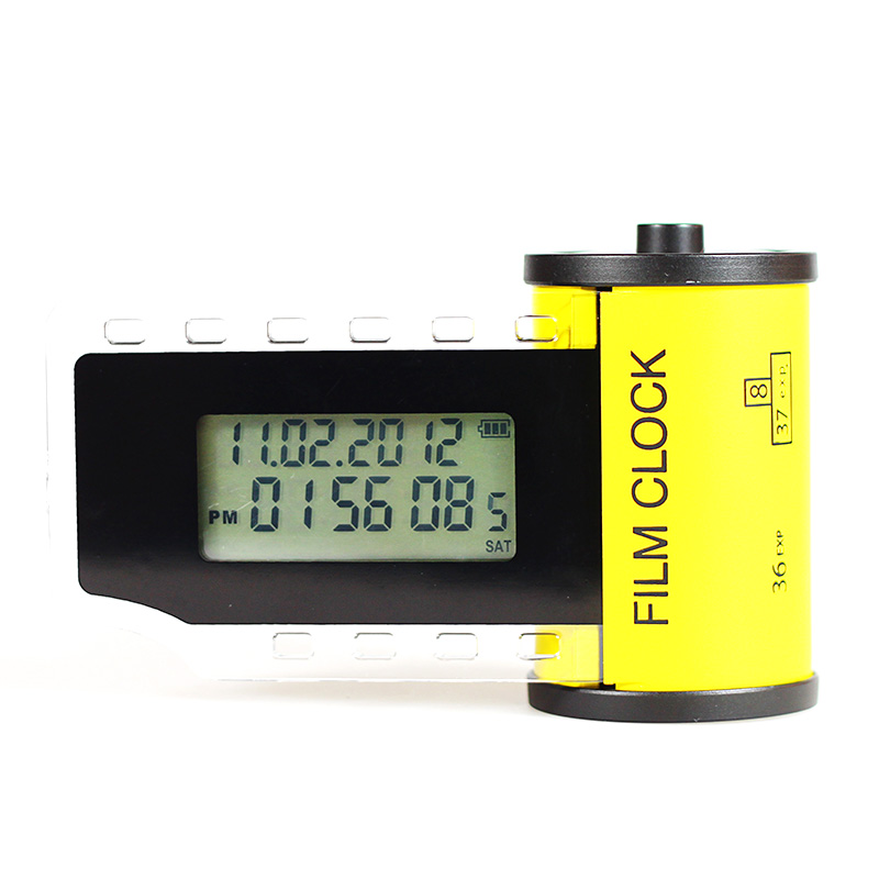 Vertical Film Alarm Digital Clock