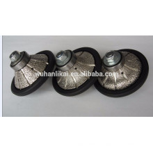 long life and high quality Vacuum brazed diamond profile wheel for granite