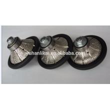 longa vida e alta qualidade Vacuum brazed diamond profile wheel for granite