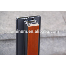 2014 moldura de vidro de vidro de alumínio de madeira