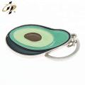 Gros zinc alliage personnalisé émail peinture métal fruits porte-clés