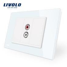 Prise audio pour prises de verre intelligentes Livolo pour usage résidentiel VL-C91AD-11/12