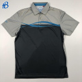 polo de golf transpirable gris y negro