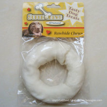 """Pet Products 5""""-6"""" White Puffy Donut Dog Chew"""