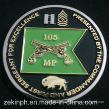 Factory Two Tone Plated Challenge Coins
