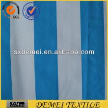 tissu coton bleu et blanc rayé pour oreiller de sofa