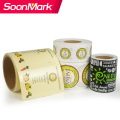 Custom Logo Thermal Label Printing Round Stickers Roll