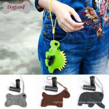 Cute Design Felt Pet Dog Waste Bag Dispenser Holder Custom Dog Poop Bag Dispenser