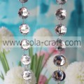Beautiful 25MM Cut Faceted Octagon Bead Garland White Wedding Tree Garland With Low Price