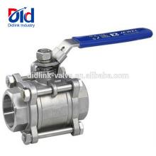 Réservoir d'eau à haute pression de flotteur 1 pouce 1000 Wog Psi Cf8m Poignée Prix Robinet À Bille En Acier Inoxydable