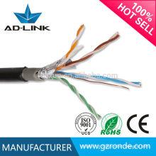 ISO9001 0.50mm blindado par trançado FTP cat5e cabo de rede ao ar livre