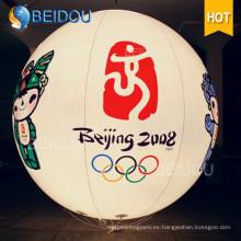 Venta al por mayor de publicidad inflable LED Globos Trípode Colgante inflable inflable de encargo