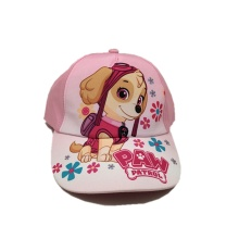 kids cute pink baseball cap sublimation printing logo