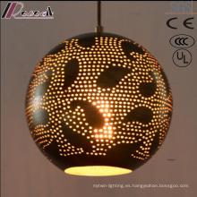 moda Spheroidal Black Hollow Luz pendiente con comedor