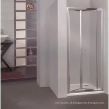 Hotle banheiro vidro chuveiro com liga de alumínio