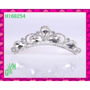 White Crystal Wholesale Pageant Crowns And Tiaras Hair Accessories