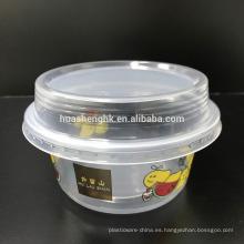 Contenedor de comida desechable de plástico 290ml Congelador Seguro