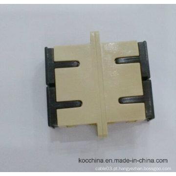 Adaptador Duplex de Fibra Óptica Sc Sm Dx com Cor Bege Koc