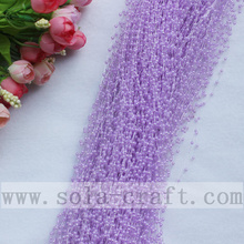 3MM Light Purple Imitation Pearl Beaded Chains Trimming For Party Supplies