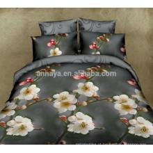 Novos produtos quentes para 2015 3D Flor Design Home Textile Cama Bedding Set Cobertura