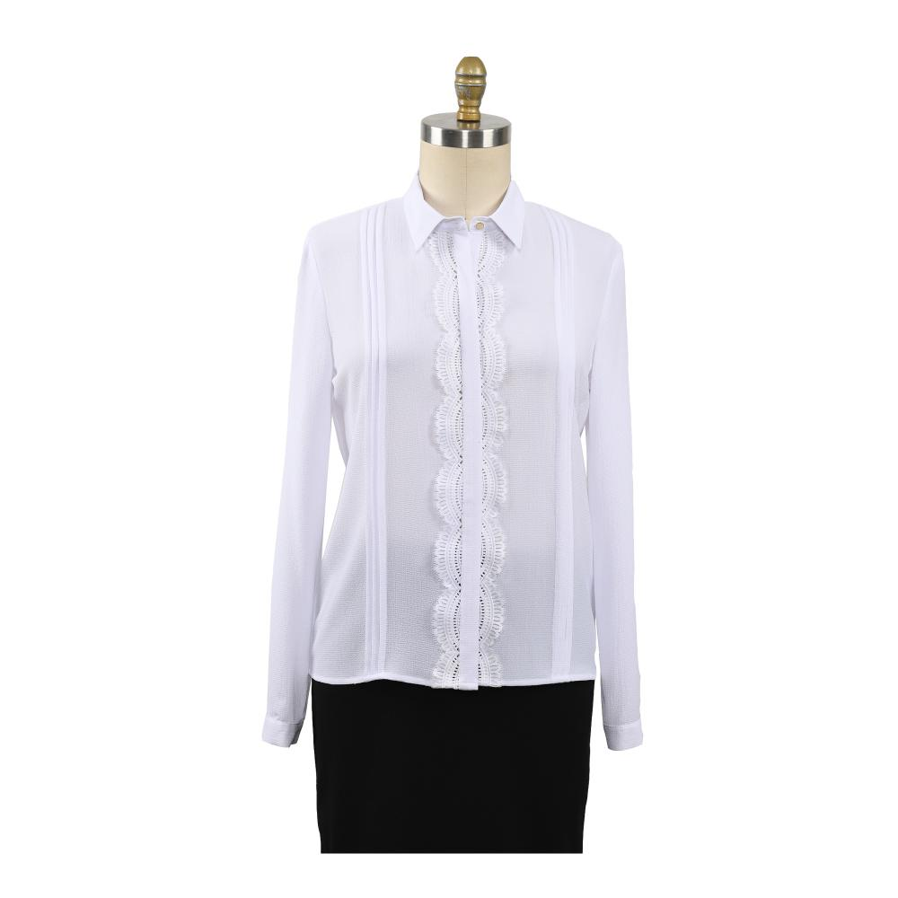 Elegant Slim Stand Collar Women Tops
