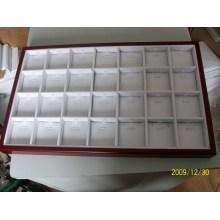 28 ranura la venta al por mayor de madera de la bandeja de la caja de exhibición del recubrimiento de la joyería (TY-28P-WWL)