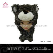 Chapéu de inverno de meninos com padrão de urso