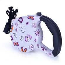 New Patterns Design Automatic Rope Chew Proof Retractable Dog Leash