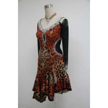 Cheetah Latin Dance Dress