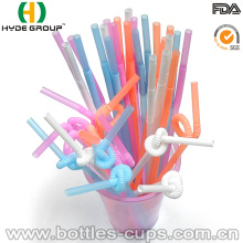 Wholesales Disposable PP Plastic Folding Drinking Straw (HDP-0028)