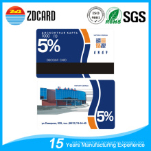 Plastic PVC VIP Gift Card for Supermarket